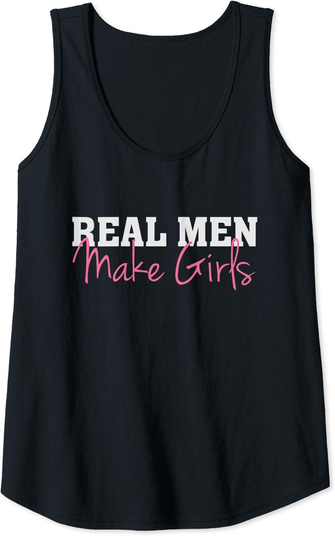 Dad Fathers Day Daughter Humor Camiseta sin Mangas Real Men Make Girls