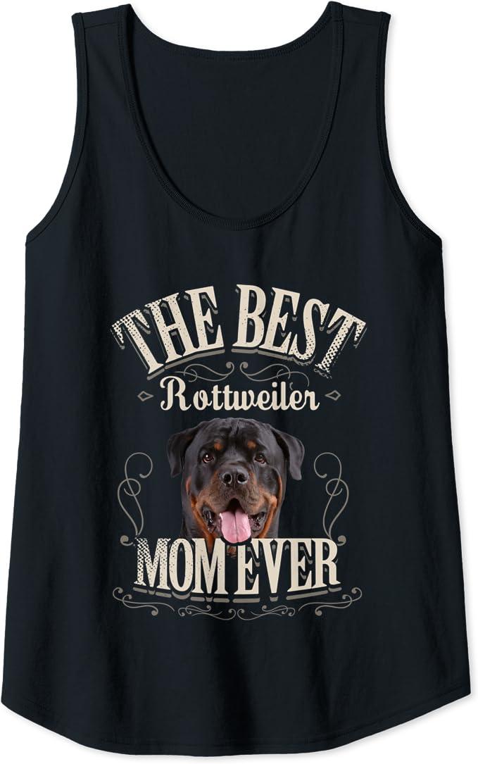 Mujer Mejor Rottweiler Perro Mamá Vintage Regalo Best Mom ...
