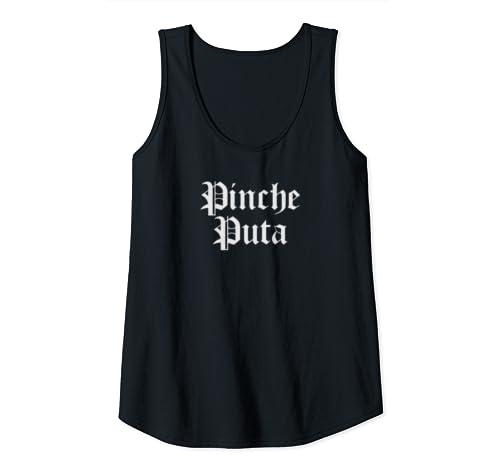 Womens Chola Clothing For Women Funny Spanish Slang Chicana Puta Tank Top