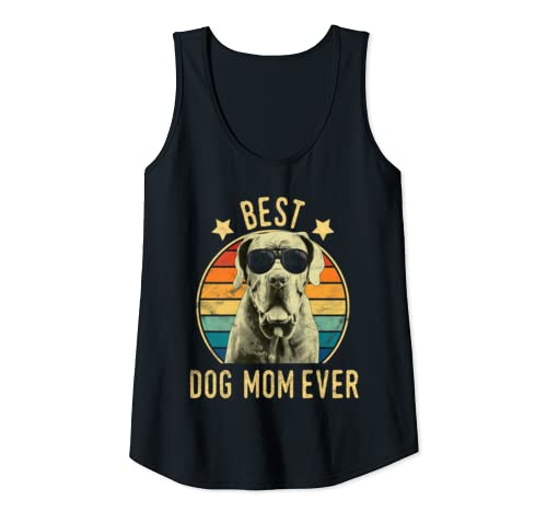 Womens Best Dog Mom Ever Great Dane Mother's Day Gift Tank Top