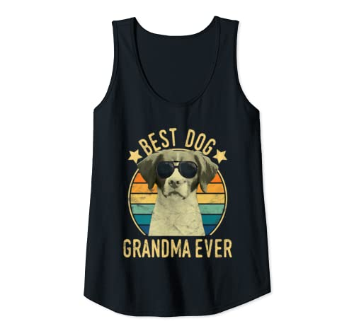 Womens Best Dog Grandma Ever Brittany Mother's Day Tank Top