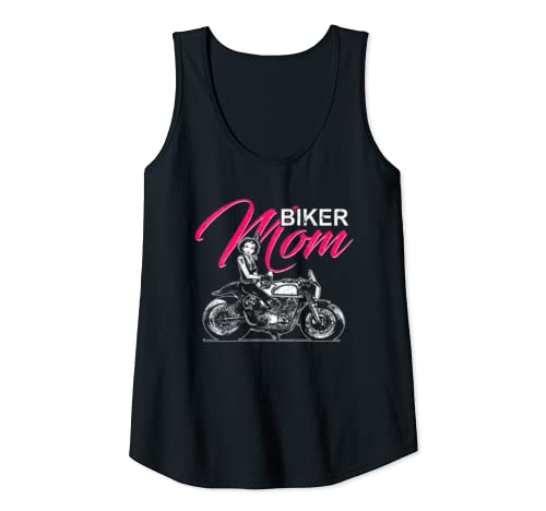 Womens Biker Mom Motorcycle Riders Mother's Day Gift Tank Top