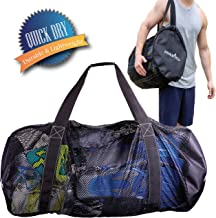 کیسه Duffel غواصی Athletico Mesh برای اسکوبو یا Snorkeling - XL Mesh Travel Duffle برای غواصی و Snorkeling دنده و تجهیزات - Bag Bag حاوی ماسک، Fins، Snorkel، و بیشتر