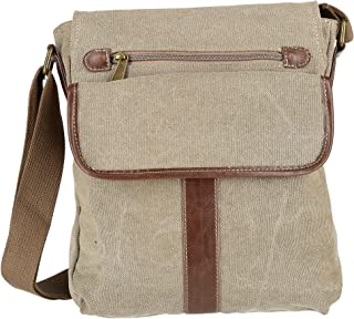 CargoIT Women's Cotton Canvas Crossbody Bag