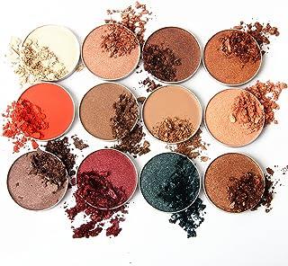 Molee 12 unidades de sombra de ojos en polvo único altamente pigmentado sombra de ojos, ajuste magnético paleta de maquillaje de calidad sin parabenos, sin gluten