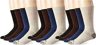 Dickies Men's Split Rib Moisture Control Crew Socks, 12 Pair