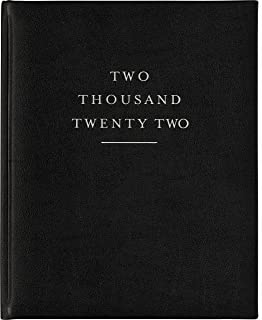 """$25 » 2021-2022 Eccolo Large Hardcover Agenda Planner, 18 Months of Monthly & Weekly Views, 8 x 10"""" (Black)"""