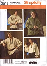 Simplicity Sewing Pattern 3519 Misses', Men's and Teen's Robin Hood Style Poet's or Pirate's Shirt