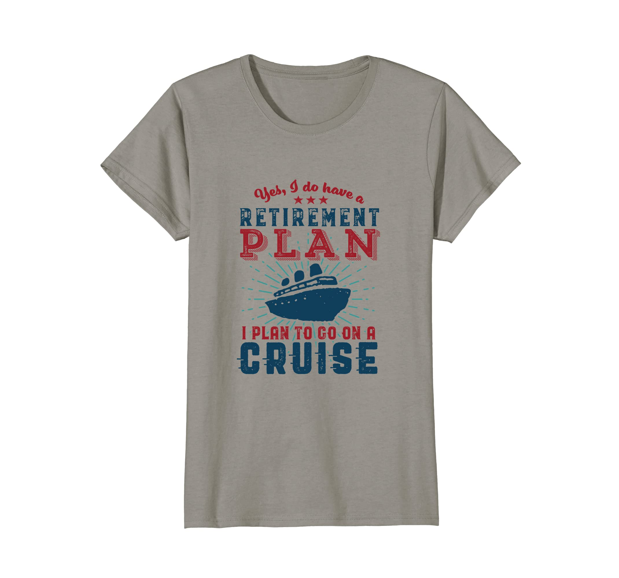 c355d4b7 Amazon.com: Funny Retired T-shirt Retirement Plan Travel Cruise Holiday:  Clothing
