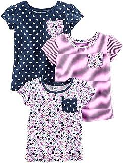 پیراهنهای کوتاه و آستین کوتاه با بسته های کوتاه و کوچک بسته بندی شده توسط دختران کارتر ، کودکان و نوجوانان کارتر