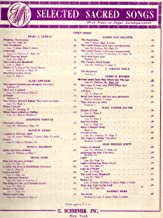 Vintage Sacred Sheet Music: GREAT PEACE HAVE THEY WHICH LOVE THY LAW (Selected Sacred Songs with Piano or Organ Accompaniment, High, in Db)