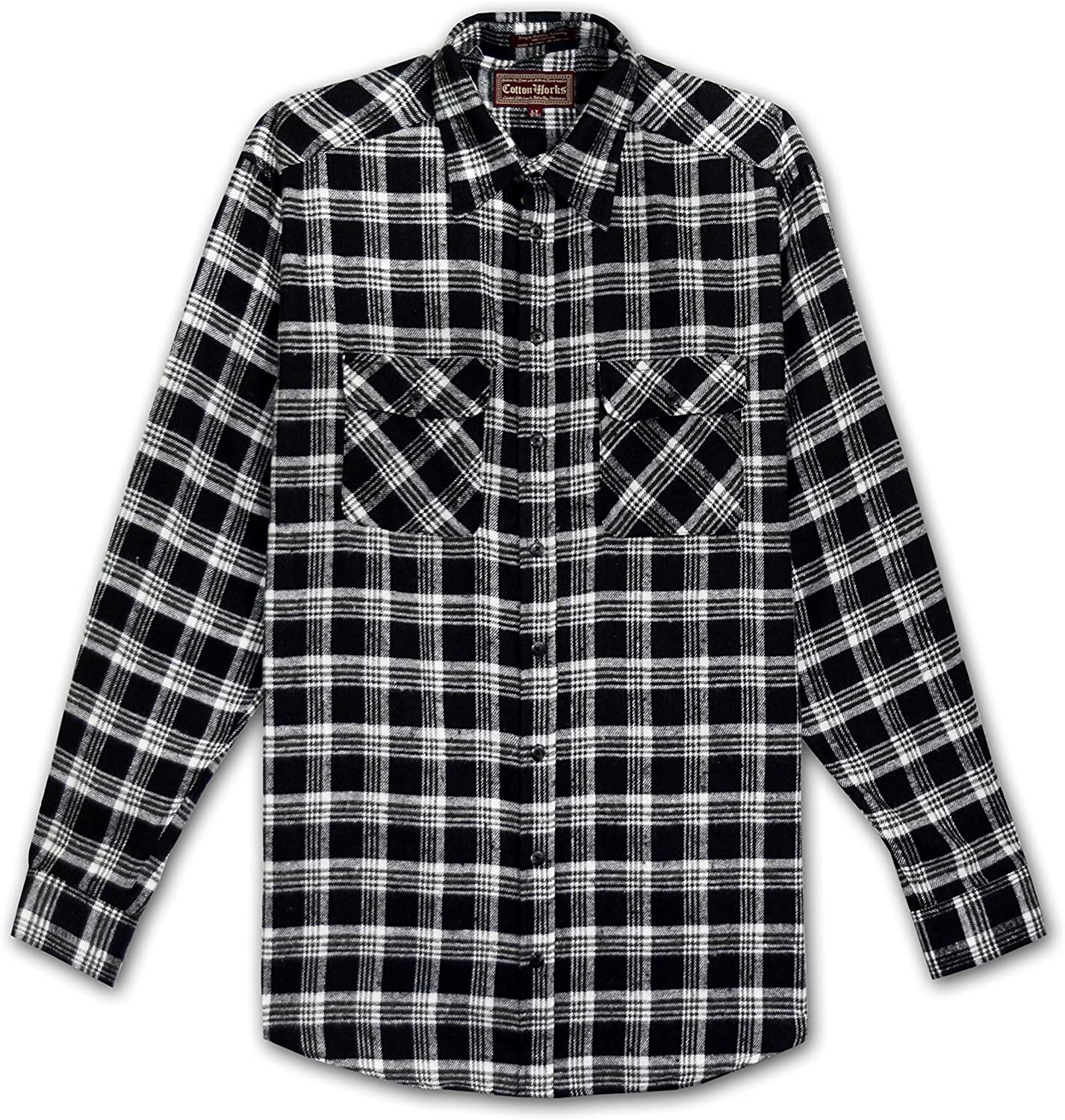 Falcon Bay Cotton Works Big and Tall Flannel Plaid Shirt