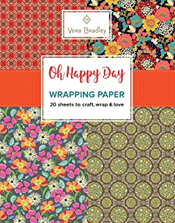 Vera Bradley Oh Happy Day Wrapping Paper: 20 Sheets to Craft, Wrap & Love (Design Originals) 18-inch x 24-inch Patterns Perfect for Celebration Gifts, plus 20 Ready-to-Color Gift Cards & Wrapping Tips