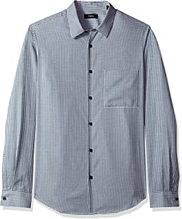 Theory Men's Irving Brushed Check Longsleeve Woven