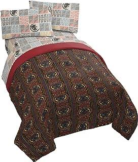 Jay Franco Marvel Black Panther Tribal 5 Piece Full Bed Set - Includes Reversible Comforter & Sheet Set - Super Soft Fade Resistant Polyester - (Official Marvel Product)