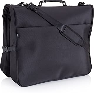 Garment Bag for Travel - 40 inch Hanging Suit Carrier with Multiple Pockets & Built in