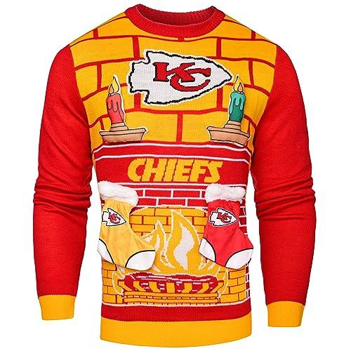 dbe5f7d1f60 Kansas City Chiefs Christmas Sweater  Amazon.com