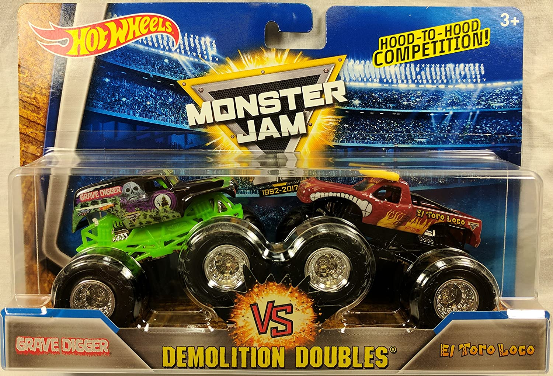 2017 Hot Wheels Wheels Wheels Monster Jam Demolition Doubles Grave