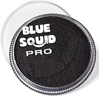 Blue Squid PRO Face Paint - Classic Black (30gm), Superior Quality Professional Water Based Single Cake, Face & Body Makeu...