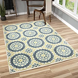 Orian Rugs Veranda Indoor/Outdoor Medallion Hamilton Area Rug, 5'2