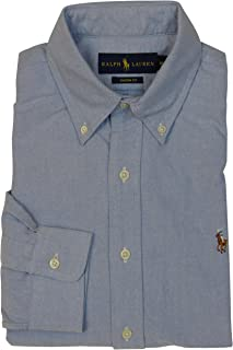 a22dcec1 Polo Ralph Lauren Mens Classic Fit Buttondown Oxford Shirt (BSR Blue, Small)
