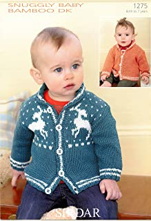 Cardigans in Snuggly Baby Bamboo DK - Sirdar Knitting Pattern 1275