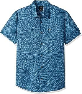 Men's Grid Short Sleeve Woven Shirt