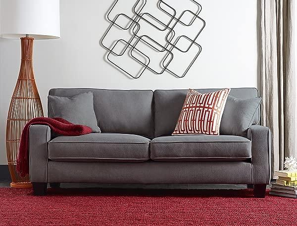 Serta Deep Seating Palisades 73 Sofa In Essex Gray