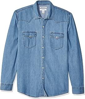 Amazon Essentials Men's Slim-fit Long-Sleeve Denim Shirt