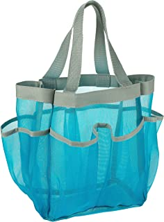 7 Pocket Shower Caddy Tote, Blue – Keep your shower essentials within easy reach...