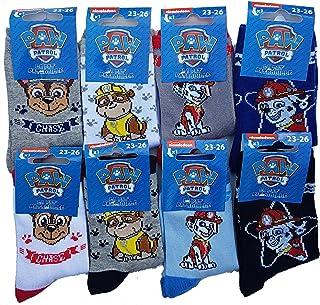 Disney socks.Pat Patrouille Marque, Calcetines infantiles de la Patrulla Canina de algodón para comodidad y fantasía – Varios modelos de fotos según disponibilidad.