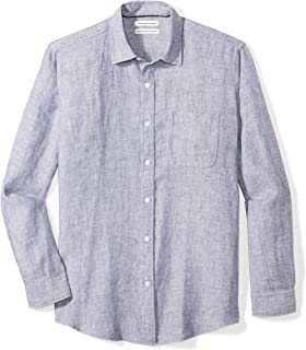 Amazon Essentials Men's Regular-Fit Long-Sleeve Linen Shirt