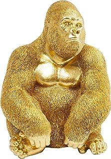 KARE Deco Figurine Monkey Gorilla Side Medi, Gold, 38, 5 x 30 x 28 cm