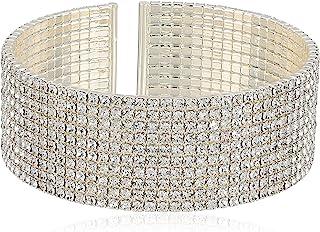 Anne Klein Women's Silver Tone Crystal