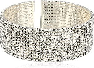 Anne Klein Classics Silver Ton Crystal Cuff Bracelet, One Size