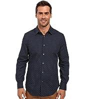 Perry Ellis - Regular Fit Non Iron Mini Floral Print Shirt