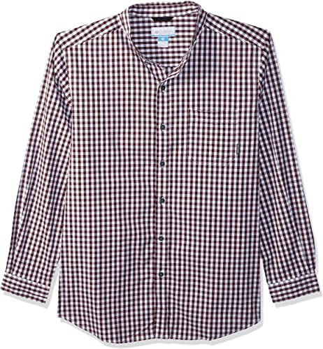 Columbia Hommes's Rapid Rivers II Big & Tall manche longue Shirt, Elderberry Gingham, XLT