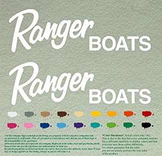 Pair of Ranger Boats Outboards Decals Vinyl Stickers Boat Outboard Motor Lot of 2 (12