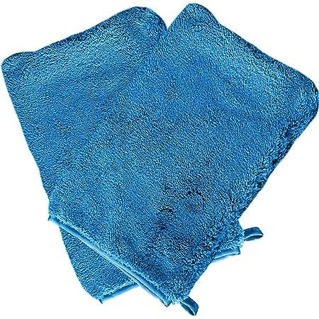 DELLWING Gant de Lavage Auto en Microfibre «Intérieur», 2pièces – Gant de Lavage Haut de Gamme pour Le Lavage et l'Entretien de la Voiture, Ainsi Que pour la Maison – Fibres épaisses ultradouces