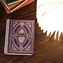 Versatile 360 Degree Book Light in The Theme of Harry Potter Book of Spells (Purple Spells, Large Size White Light)