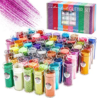 and Tinsel 39-Piece Bundle Packages Double as Storage Boxes Darice Assorted Glitter Bundle Chunky Extra Fine