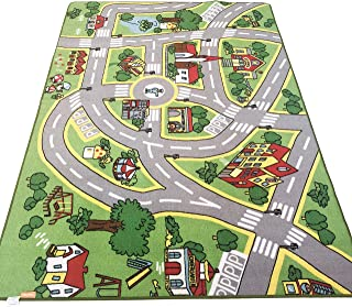 Safe,Colorful and Fun Play Rugs with Roads for Bedroom and Kid Rooms Car Rug to Have Hours of Fun on,Area Rug Mat with Non-Slip and No Chemical Smell Backing 79X40 Kids Rug Play mat for Toy Cars