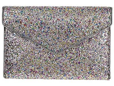Rebecca Minkoff Glitter Leo Clutch (Silver Multi 1) Clutch Handbags