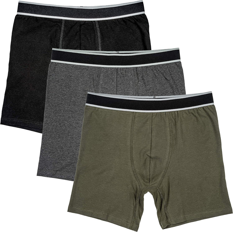 Trimfit Men's Ultra Soft Boxer Briefs, 3-Pack of Tagless Multi-Colored Underwear