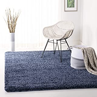 Safavieh California Premium Shag Collection SG151-7070 Navy Area Rug (8' x 10')
