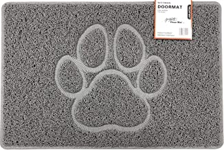 Nicoman PAW Embossed Shape Door Mat-(Use Outdoor ONLY), Spaghetti Doormat, Grey, Medium (75x44cm)