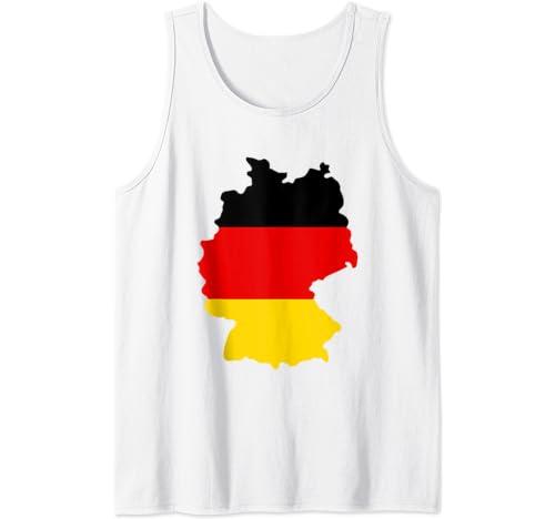 Germany Flag Shirt German Deutschland Map Fun Gift Tank Top