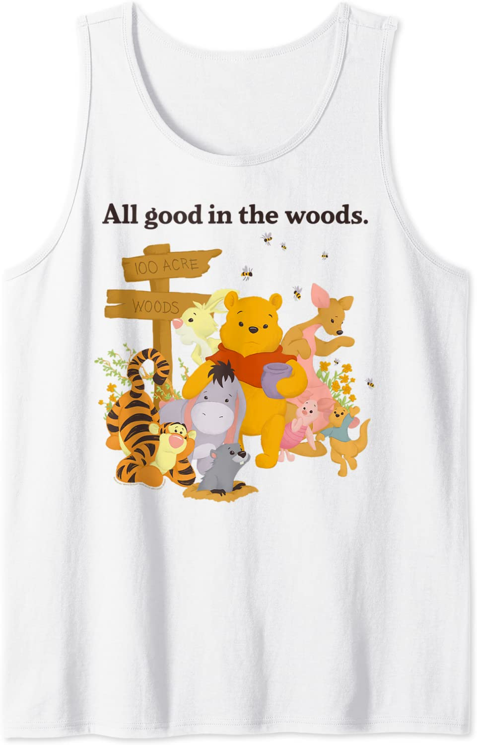 Special price Disney Winnie The Pooh Group Shot Good Tank In Woods All Top Classic