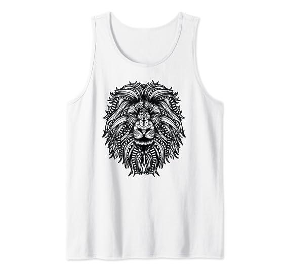 Amazon.com: Hermosa camiseta de mandala tribal con cara de ...