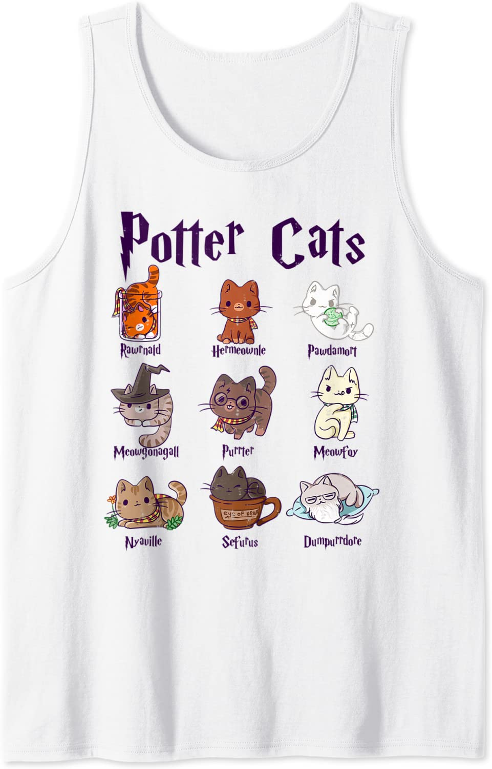 Potter Cats Cute Harry Pawter Kitten Girls Inexpensive gift Tank Free shipping on posting reviews Top for